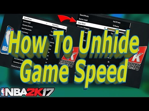 How To Adjust MYCAREER Game Speed | How To Turn Up Game Speed  NBA 2k17 | NBA 2k17 Game Speed Glitch