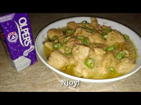 Chicken White Handi, makhani handi with Olper's Cream