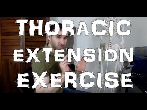 Thoracic Extension Kyphosis Treatment Exercise