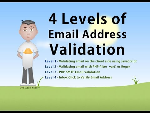 Email Address Validate 4 Levels JavaScript PHP Verify Tutorial