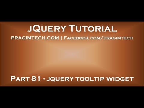 jquery tooltip widget