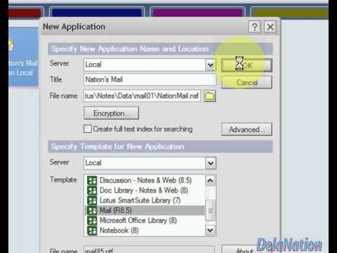 Lotus Notes 8.5 - 1. How to create a Lotus Notes Mail Database application