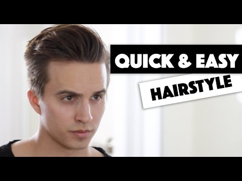 Mens Hair | Messy Combover | Quick Easy Hairstyle w/ Strong Hold