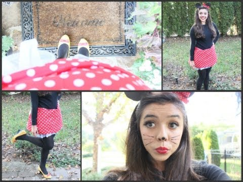 DIY Minnie Mouse Makeup, Hair, and Costume!!!