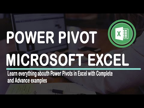 How to use PowerPivot in EXCEL 2016 Advance with Exqmple