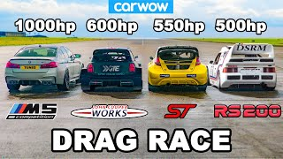 BMW M5 1000hp v £1.15M Rallycross Racers: RACE...and EXPLOSION!