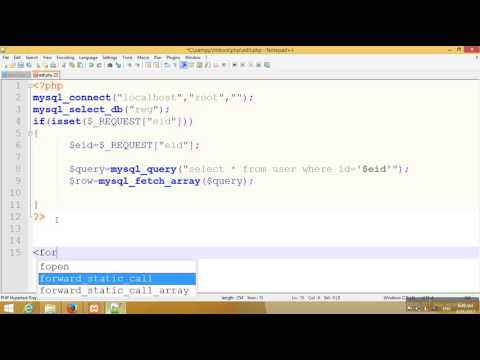Textbox value fetch from database and update in  PHP Tutorial-102(Hindi/Urdu)
