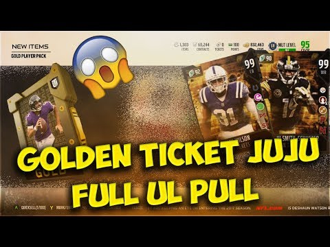 GOLDEN TICKET JUJU AND QUINCY WILSON! FULL UL PULL! - MADDEN 18 ULTIMATE TEAM MUT 18