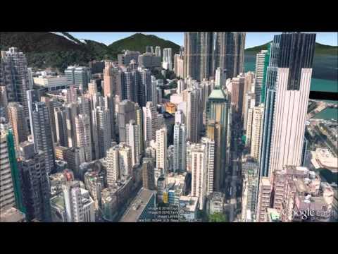 Hong Kong Fly Through - Google Earth