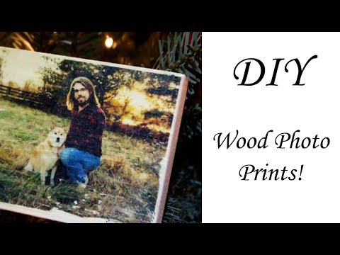 Easiest and Fastest way to print on wood!