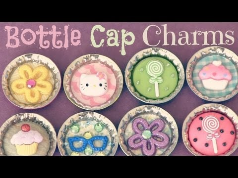 BOTTLE CAP Pins, Magnets, & Charms - Recycle - Back To School How To | SoCraftastic