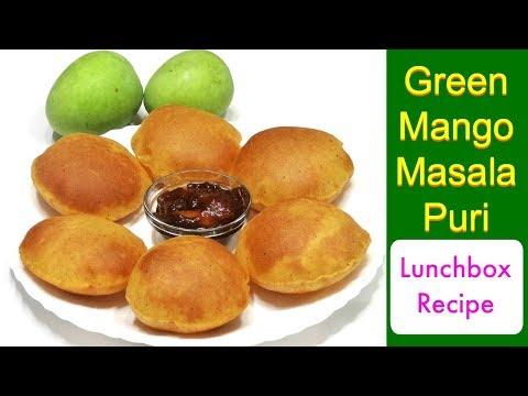 कच्चे आम की खस्ता पूरी | Mango Masala Poori Recipe | Kabitaskitchen