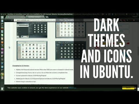 how to install dark themes and icons in ubuntu.