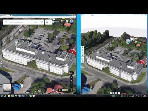 Combining Google Maps, photogrammetry and pointcloud into Revit