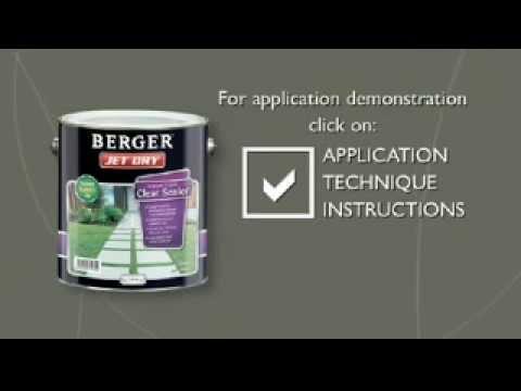 Berger Jet Dry Aquatread Clear Sealer