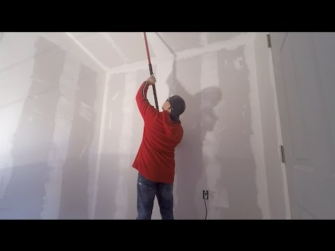 INSTALL DRY WALL, JOINT COMPOUND, TEXTURING AND PAINT!