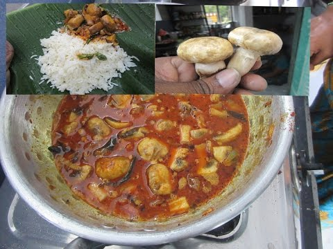 Cooking MUSHROOM Curry with WHITE RICE in My Village   VILLAGE FOOD