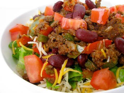 Clean Eating Bison Taco Bowl Recipe