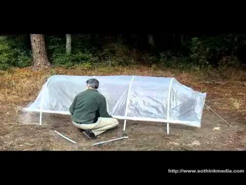 Build a cheap portable Hoop House, Greenhouse: Easiest plans ever!