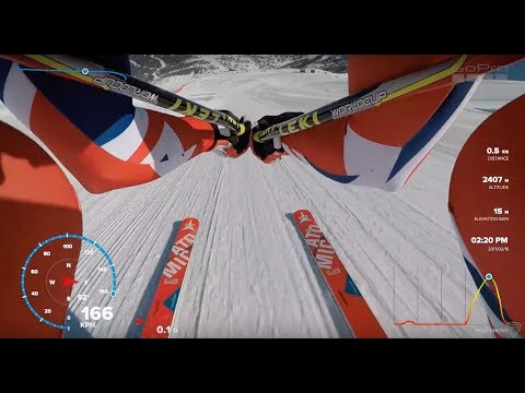 POV Speed Ski 167kph training in Vars - GoPro data overlays.
