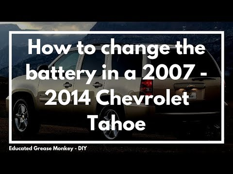 How to replace a battery on a 2007 - 2014 Chevrolet Tahoe with an Optima Battery - EGM DIY