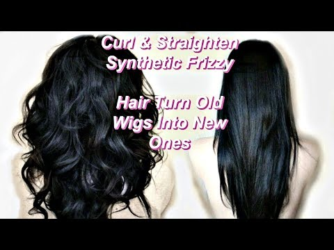 How I Curl & Straighten Old Synthetic Hair + Turn Old Wigs Into New Wigs  = Great For Cosplay Wigs