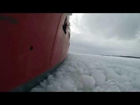 2014 Coast Guard Mackinaw Ice Breaking CBS Evening News