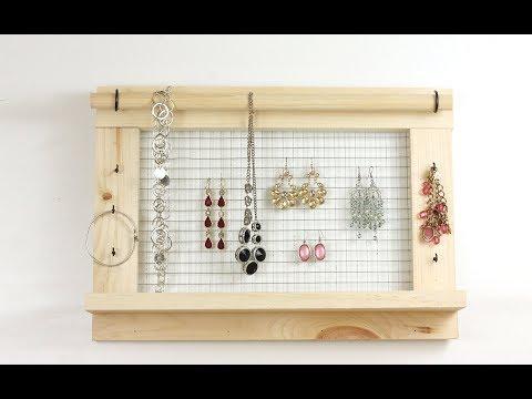 Easy DIY Jewelry Organizer
