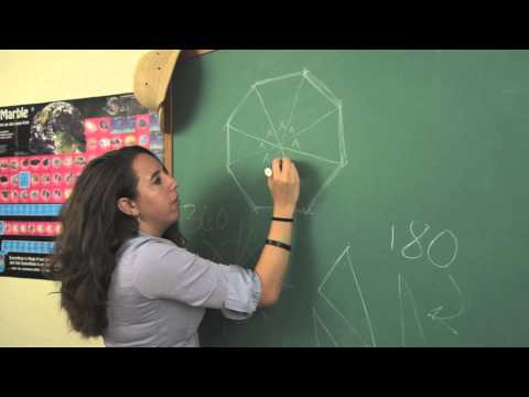 How to Determine the Number of Degrees for the Vertex Angle of a Regular Octagon : Physics & Math