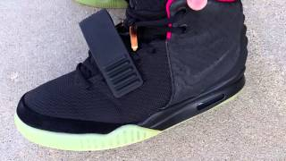 07a43b4583064 NIKE AIR YEEZY 2 II NRG SOLAR RED BLINK AUTHENTIC ON FOOT FEET REVIEW! KANYE