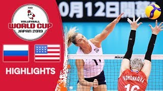 RUSSIA vs. USA - Highlights | Women's Volleyball World Cup 2019