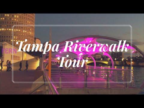 Quick tour of The Tampa Riverwalk Curtis Hixon Waterfront park