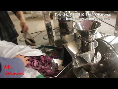 Purple Yam sweet potato powder grinding mill pulverizing machine offer