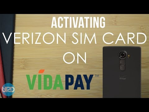 HOW TO ACTIVATE A VERIZON SIM CARD ON VIDAPAY