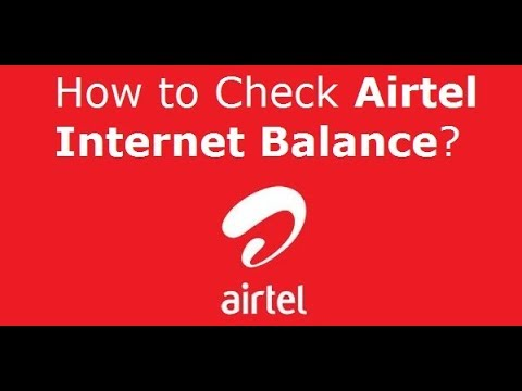 How to check Your Daily Airtel 4G/3G Data Limit Balance