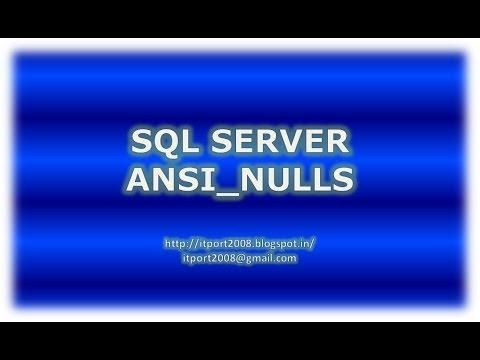 ANSI_NULLS in SQL Server