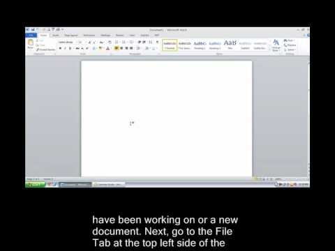 How to Auto Save in Microsoft Word 2010