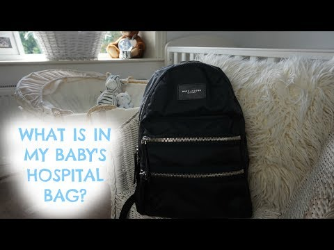 WHATS IN MY BABY'S HOSPITAL BAG? | CHANGING BAG | MARC JACOBS BACKPACK!