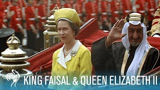 King Faisal Arrives to a Royal Welcome by Queen Elizabeth II (1967) | British Pathé