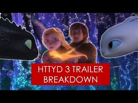 How to Train Your Dragon 3: Trailer Breakdown [ Light Fury l Hiccstrid l Hidden World ]