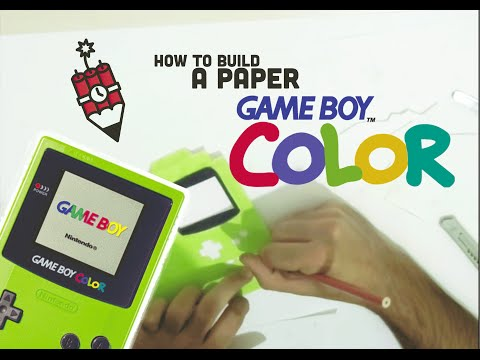 HOW TO MAKE A PAPER GAME BOY COLOR CASE FOR SMARTPHONE
