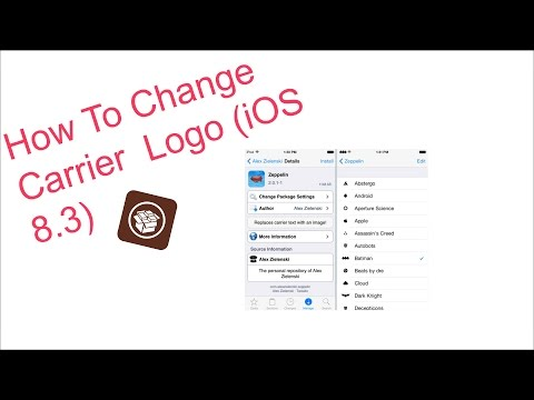 How To Change Carrier Logo (iOS 8.3)