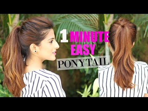 The Perfect High Ponytail for School, College,Work| No Teasing, No Hairspray | Indian Hairstyles