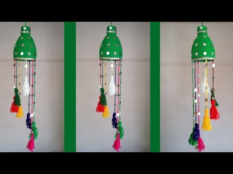 DIY: Plastic Bottle Crafts!!! How to Make Beautiful Waste Bottle Hanging For Home Decoration!!!