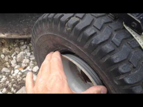 Putting the Riding Mower Tire back on its Rim