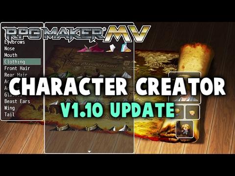 Character Creator v1.10 Update - RPG Maker MV