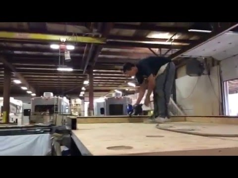 RV Plant plywood to steel frames