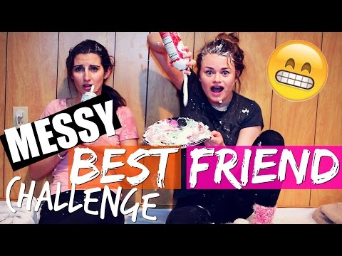 MESSY WHIP CREAM BFF CHALLENGE! Ft. Julia
