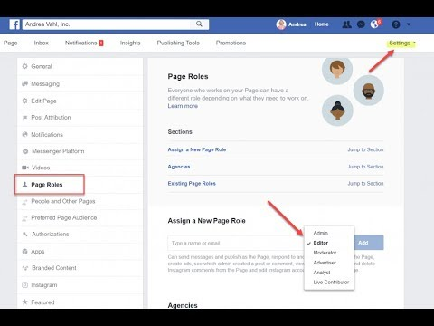 how to add admin to facebook page | add admin to facebook page