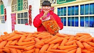 【陕北霞姐】萝卜陕北特色吃法,就馍馍,下面条,一次腌30斤不够吃!
